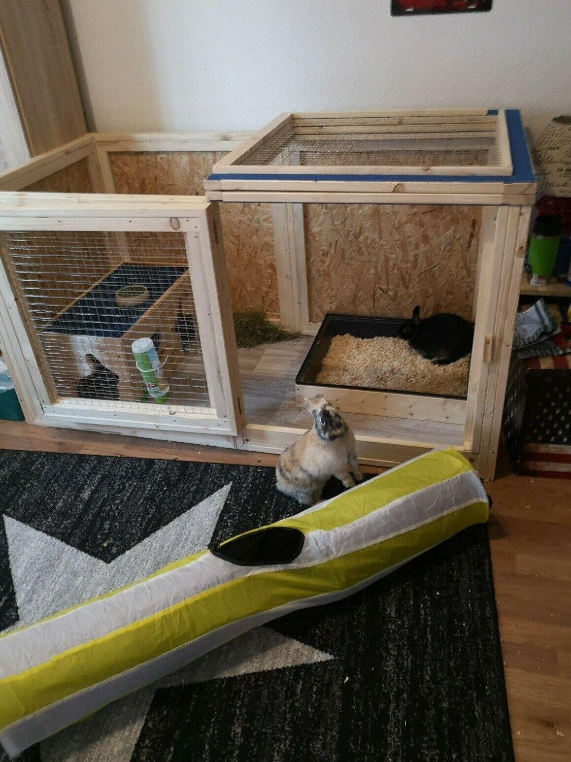 Ruckzugsort Fur Kaninchen Mit Deckel In 2020 Kaninchengehege