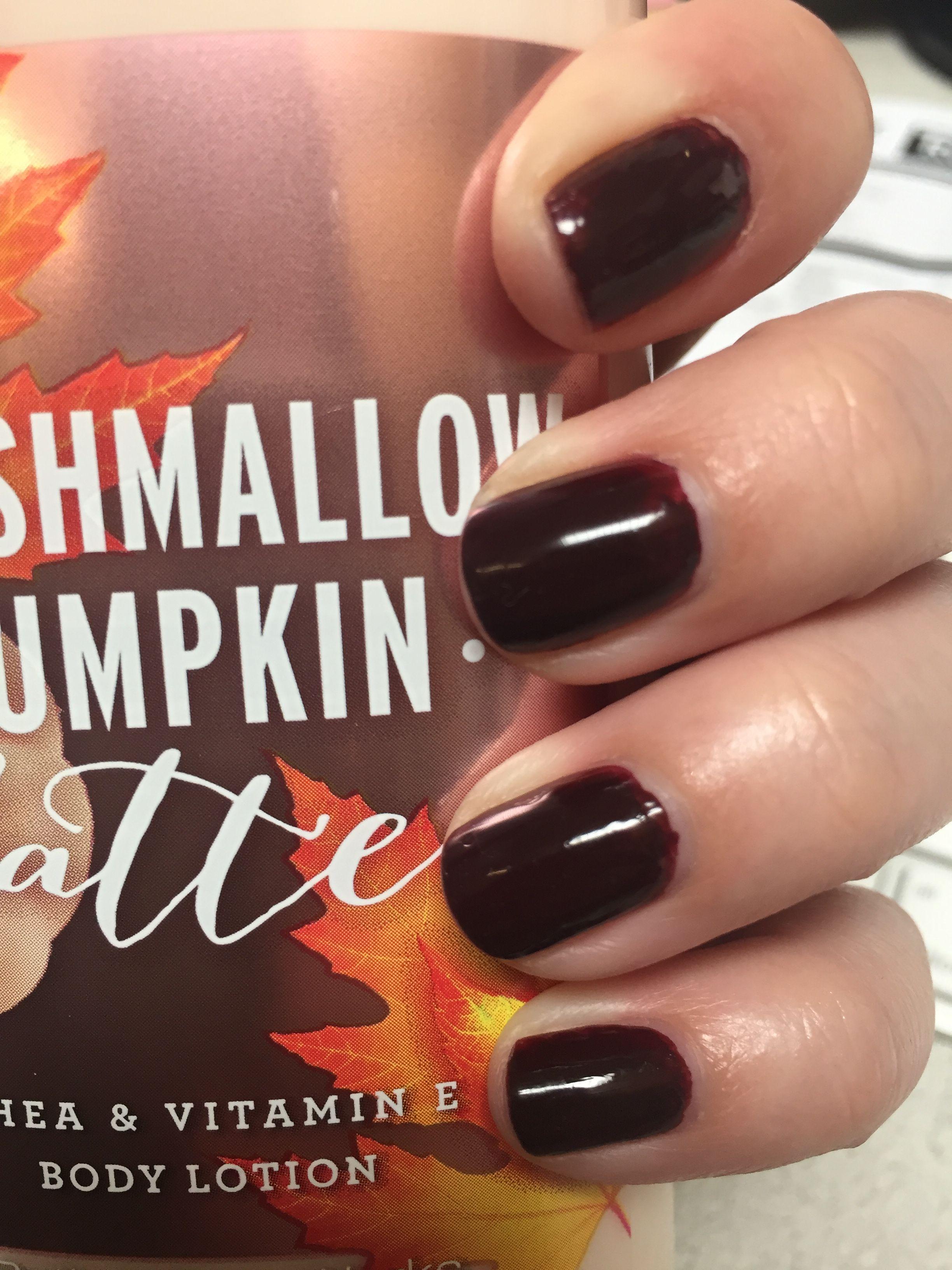 Essie Shearling Darling dark cherry manicure   Manicures   Pinterest ...