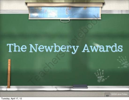 Newbery Award Powerpoint and Activity from Caught in the Middle on TeachersNotebook.com - (14 pages)