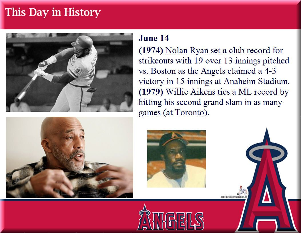 This day in Angels history June 14 (1974) Nolan Ryan set