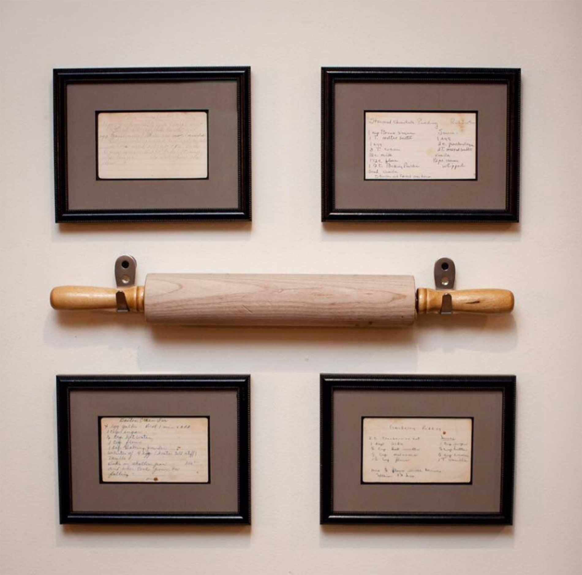 image vintage kitchen craft ideas. Frame Family Members Hand Written Recipes. Use Antique Rolling Pin Or Any Other Kitchen Utensil Image Vintage Craft Ideas