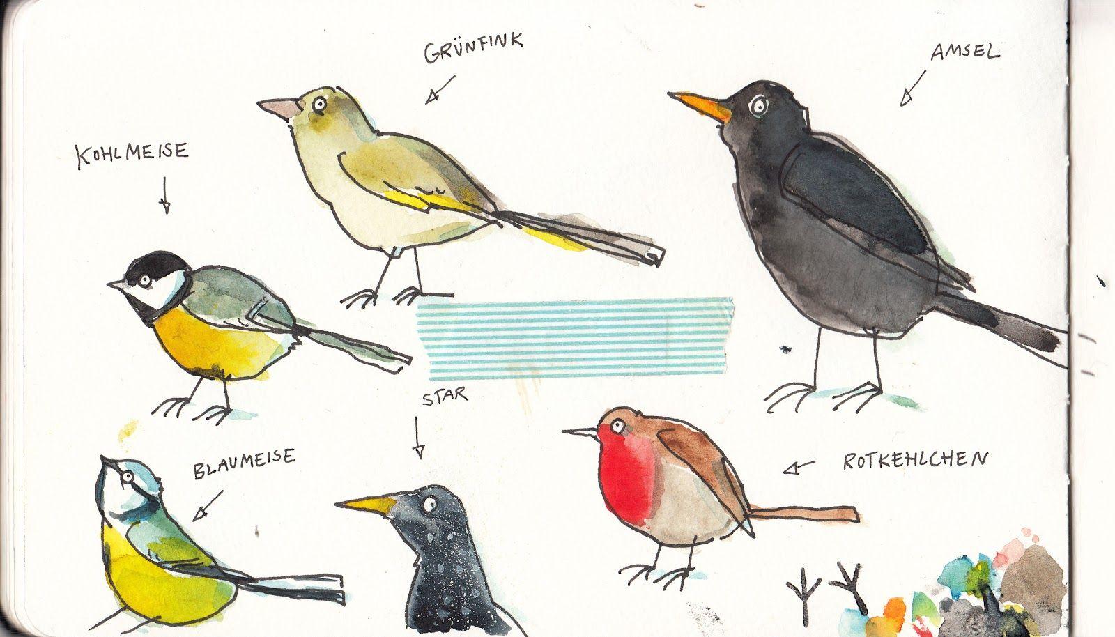 malvorlagen wintervögel  dorothy meyer grundschule