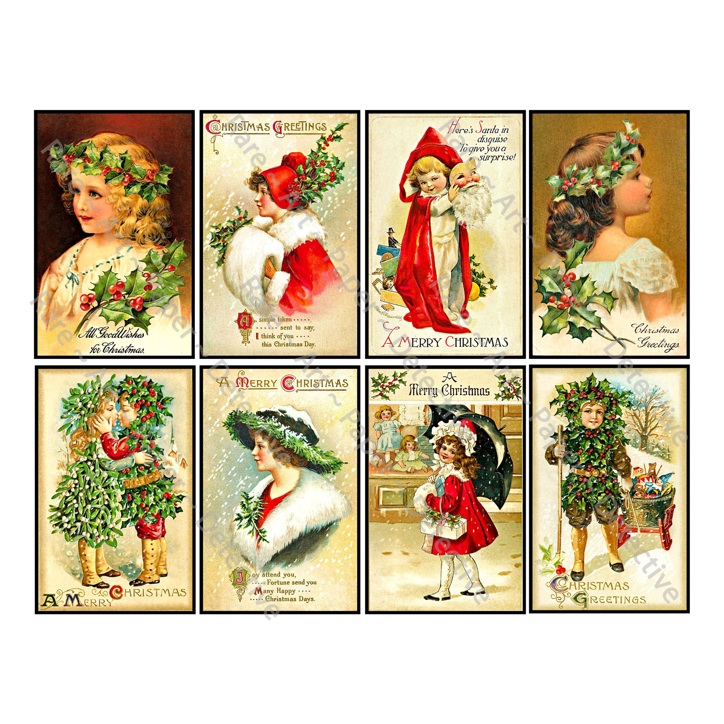 8 Pcs Christmas Stickers Deluxe Set Of Old Fashioned Etsy In 2020 Merry Christmas Vintage Christmas Stickers Merry Christmas Greetings