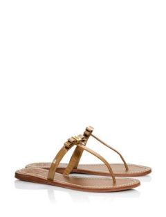 70a40676f37 Tory Burch Leighanne Patent Flat Thong Sandals