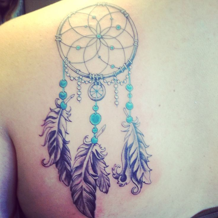 Dream Catcher Tattoo On Shoulder Pretty Dream Catcher For The Shoulder Blade  Tattoos & Piercings