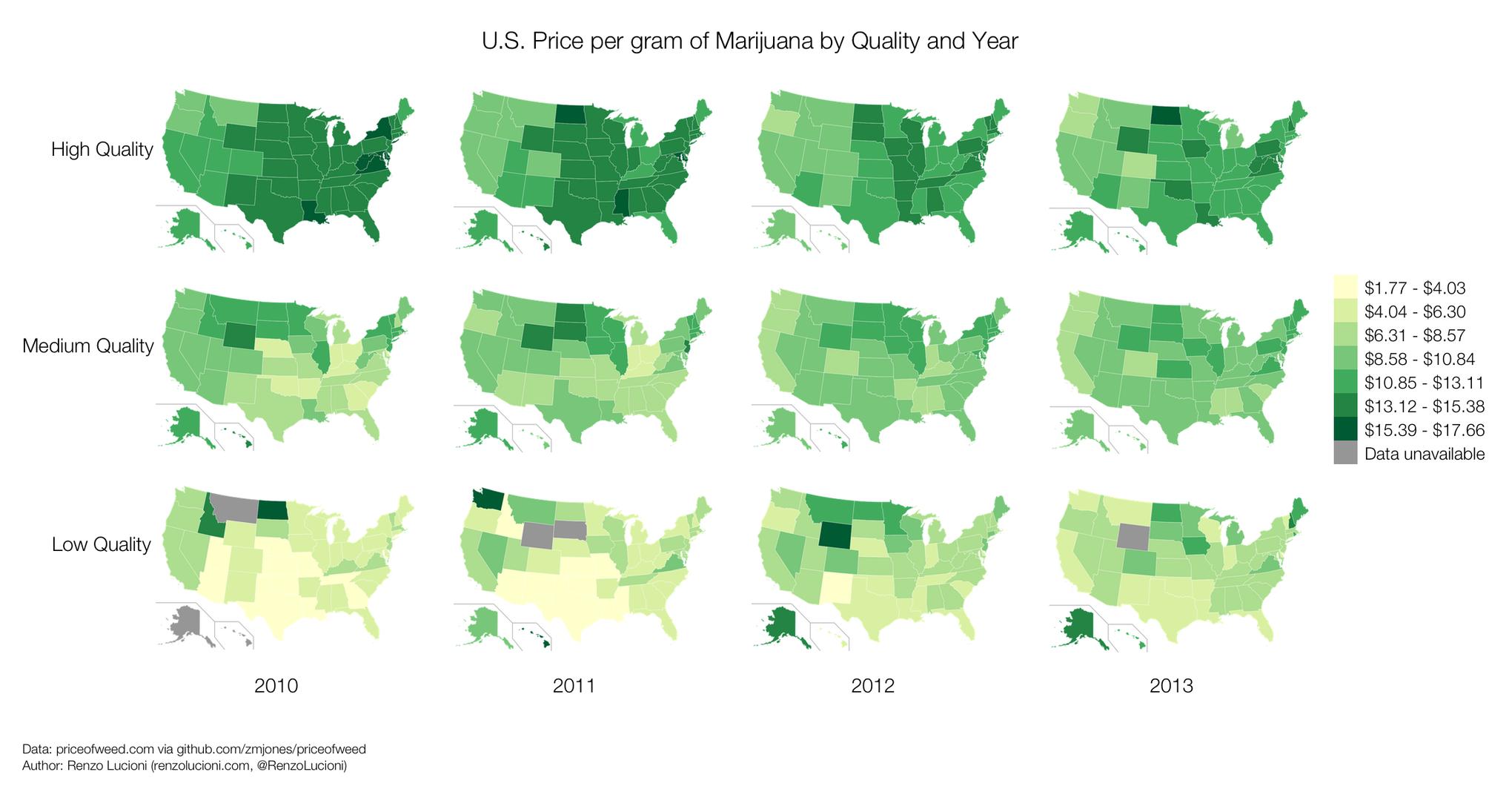 24 maps and charts that explain marijuana