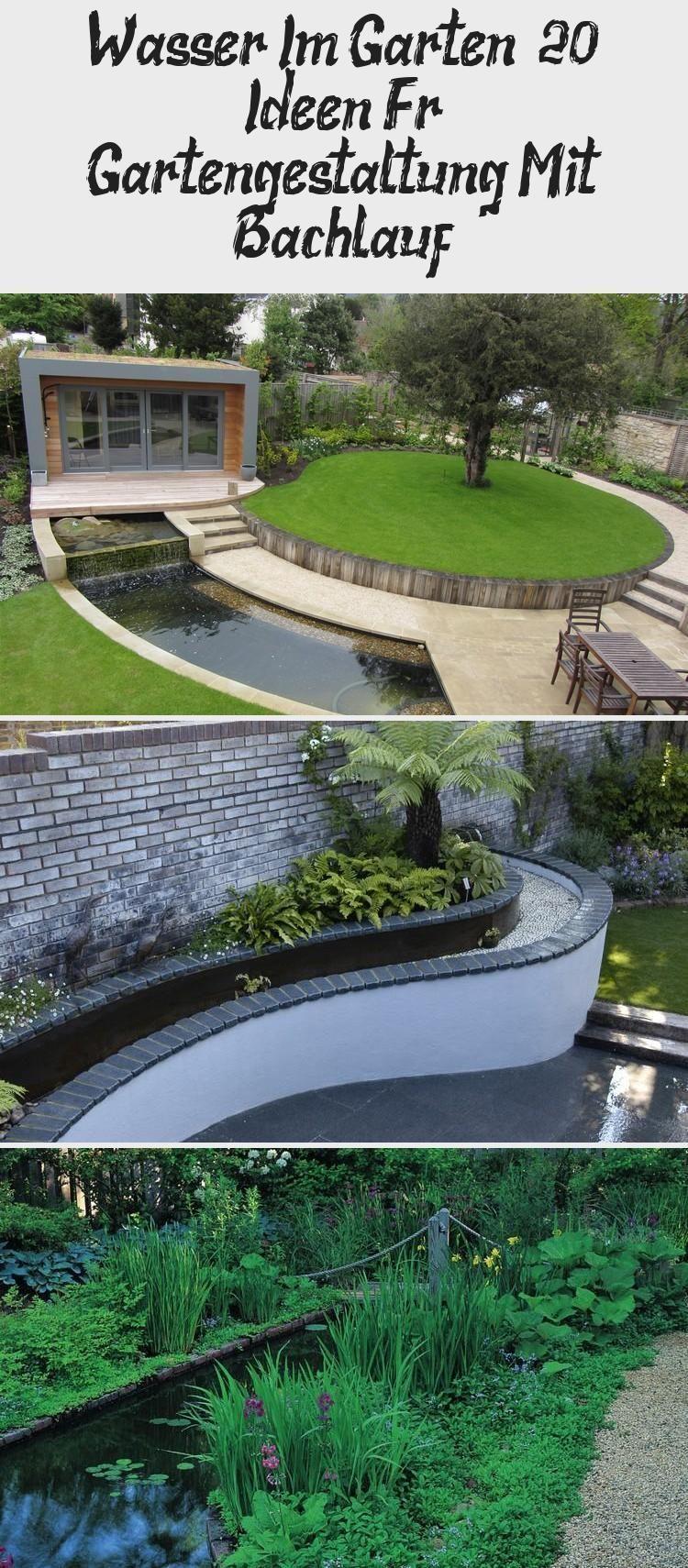 Wasser Im Garten 20 Ideen Fur Die Gartengestaltung Mit Einem Bach Wasser In G Wasser Im Garten Gartengestaltung Garten