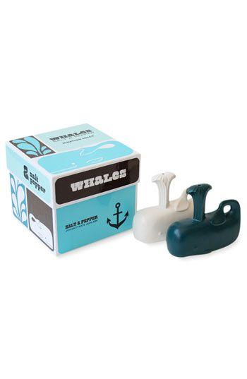 jonathan adler whale salt and pepper shakers... too cute!