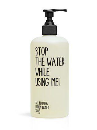 Mýdlo STOP THE WATER WHILE USING ME! s medem a citrónem 1