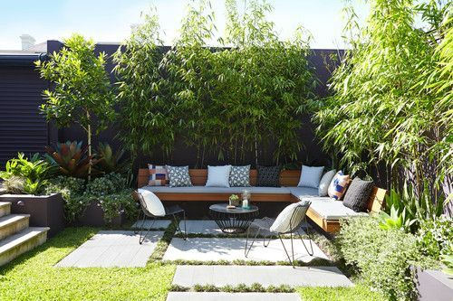8 Genius Ways To Create A Private Outdoor Space Domino Courtyard Gardens Design Small Courtyard Gardens Small Backyard Landscaping