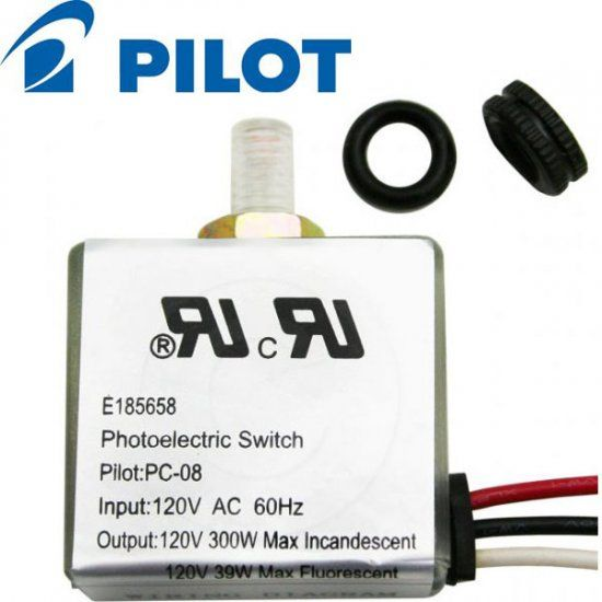 E185658 Pilot 08 Photoelectric Dusk To Dawn Switch 120v Ballastkit Com Fluorescent Light Bulb Led Lights Light Bulbs