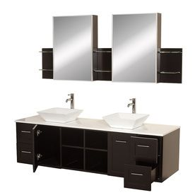 Photo Album Website Wyndham Collection Avara Espresso Double Vessel Sink Bathroom Vanity with Solid Surface Top Common x Actual x at Lowe us Make a statement with the Avara