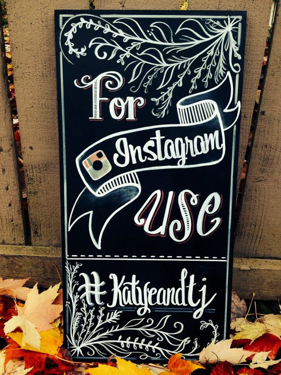Instagram wedding sign by GenuinelyGinger on Etsy, $75.00