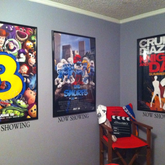 Put Now Showing Under Movie Posters Movie Bedroom Movie Room