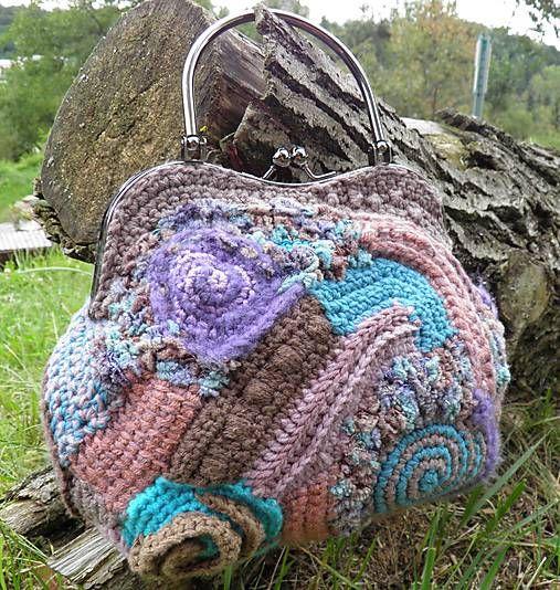 .ma.ta.cha / Hnedo-tyrkysová kabelka ♡