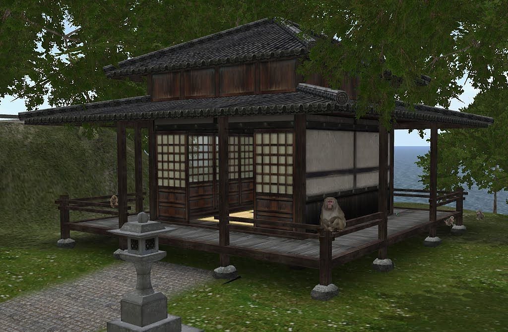 Traditional japanese tea house hosoi ichiba japanese for Japanese style garden buildings