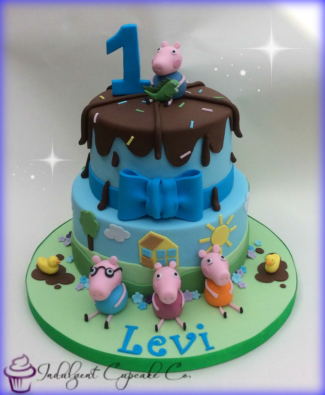 Boys Peppa Pig Cake With Images Pig Birthday Cakes