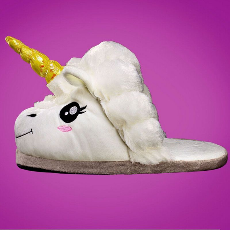Photo of Free Shipping Plush Shoes 1Pair Plush Unicorn Slippers for Grown Ups Winter Warm Indoor Slippers Home slippers  a230-in Slippers from Shoes on Aliexpress.com   Alibaba Group