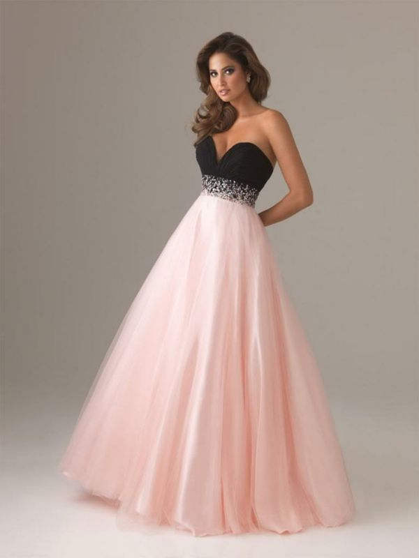 Robe de bal rose pale princesse