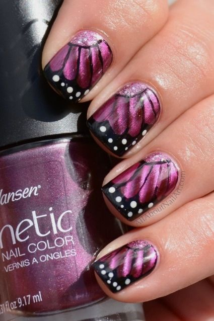 Butterfly Nail Art Gradient Butterfly Nail Art And Tutorial