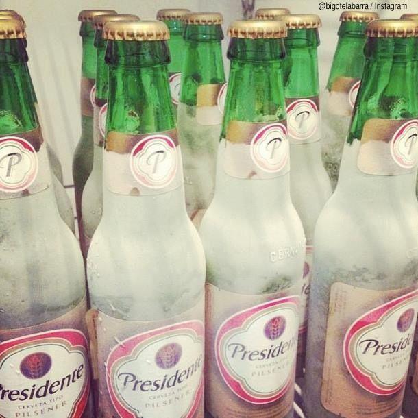 cerveza presidente vestida de novia, dominican republic beer. | beer
