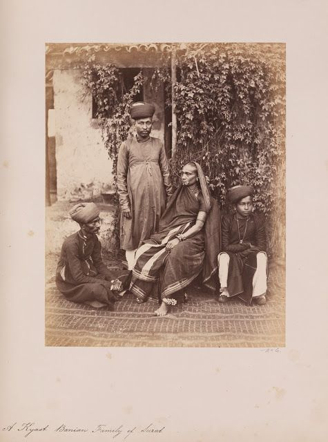 A Kyast Banian Family Of Surat Vintage Indian Portraits