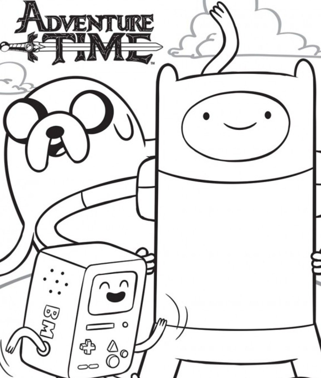 adventure time coloring pages  Coloring  Pinterest  Craft