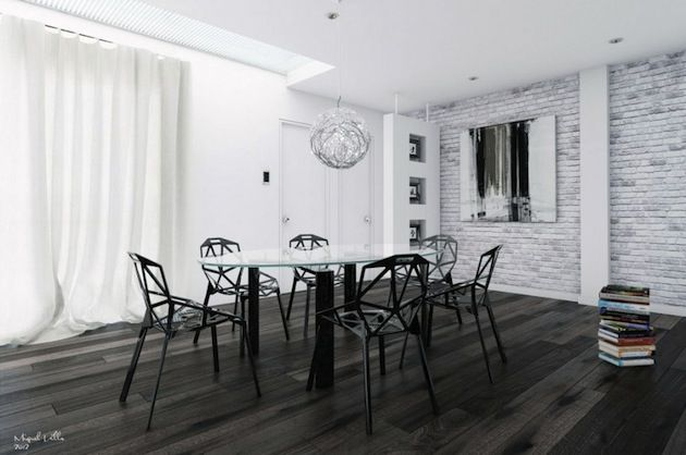 Black And White Contrast Always Simple Classic And Works Shop Hundreds Of Styles Online Now At Www Esth White Interior Brick Interior Wall White Brick Walls