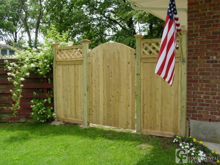 Stockade fence gate with pergola google search garden ideas