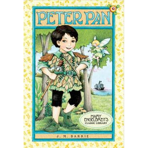 Share a classic from Mary Engelbreit's library of favorites! One Enchanted night, the Darling children-- Wendy, John, and Michael-- receive a visit from Peter Pan. He persuades them to fly away to the island of Neverland, where children never have to grow up!