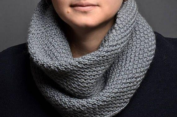 knit unisex cowl pattern begginer knit scarf pattern easy ...