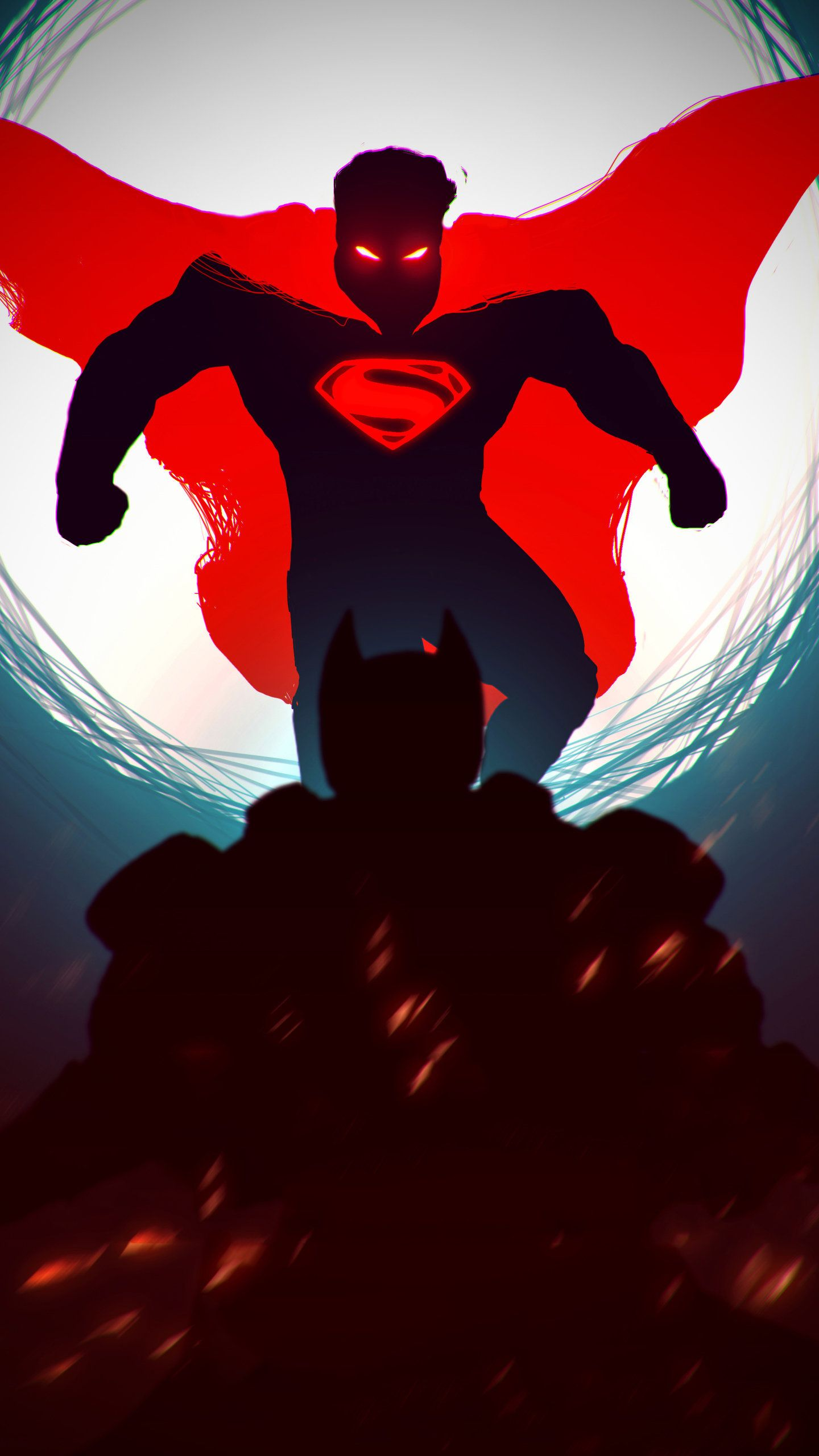 Superman Red Dark HD Wallpaper (1440x2560) Superhero