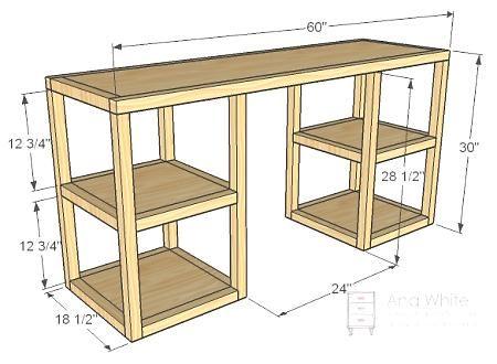 Parson Tower Desk Diy Furniture Plans Diy Desk Plans Woodworking Projects Diy
