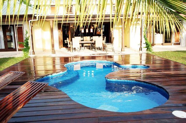 Pools Elegant Tropical Above Ground Pool Decks In Unusual