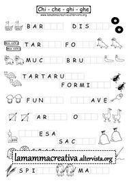 Scheda di sillabe con suoni difficili chi che e ghi ghe motricita 39 fine pregrafismo grafismi - Letto scrittura schede ...
