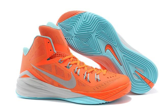 new product f821f 67e5f Hyper Crimson Grey Mint Green with Silver Nike Lunar Hyperdunk 2014 Sneakers