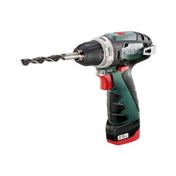 Cordless Drill Metabo Powermax Bs18 108v 1 Bat Li 2 Ah