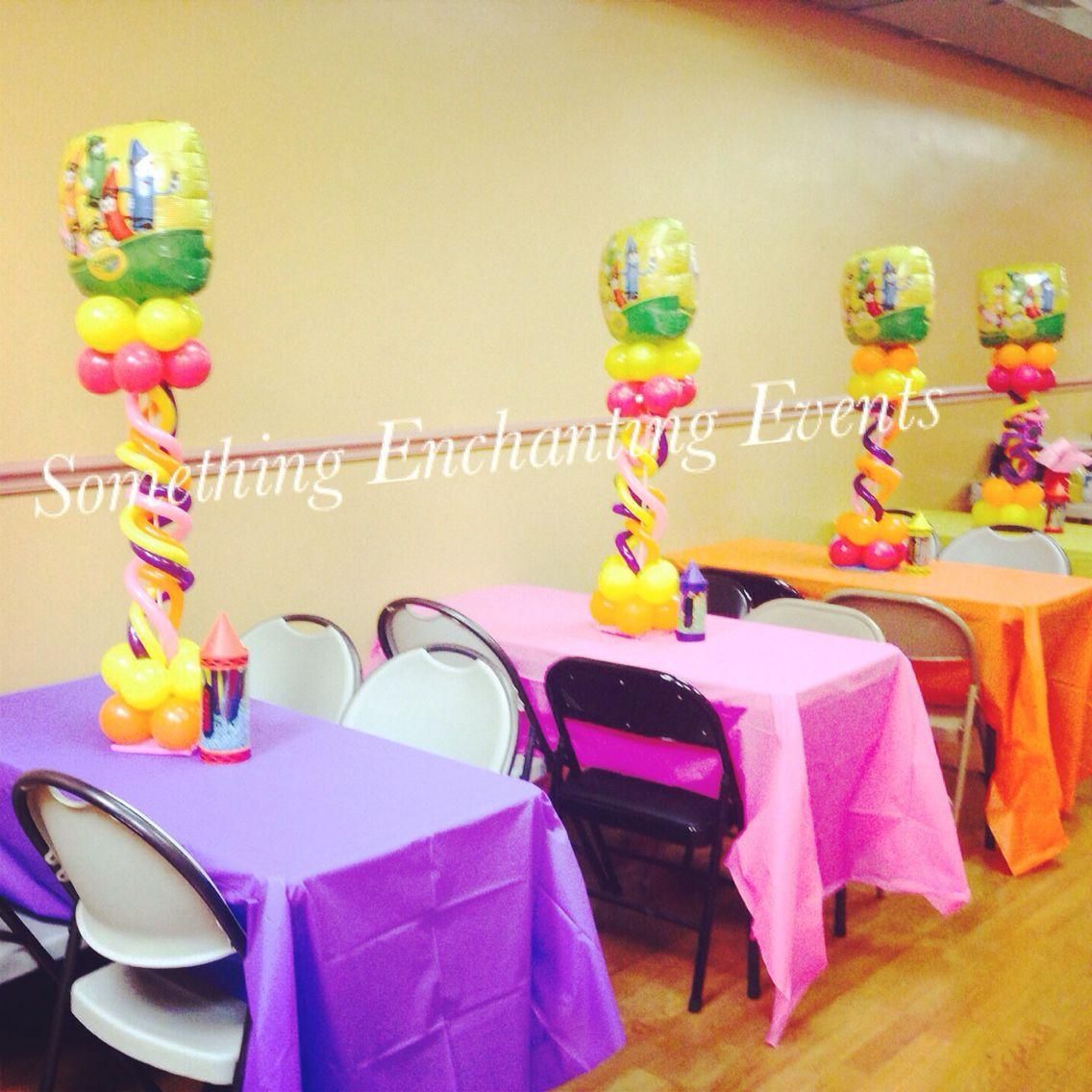 Crayon balloon theme centerpieces | Kids birthday | Pinterest ...