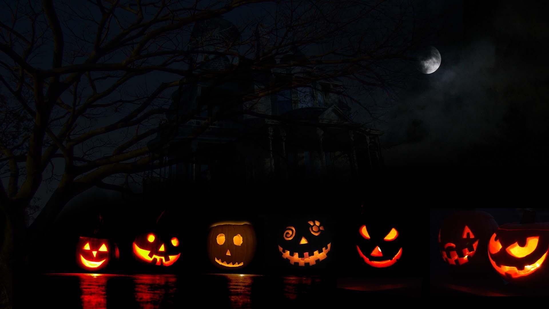 Halloween Jacks Pumpkin Jack O Lantern Halloween Moon Haunted 3d And Abstrac Halloween Desktop Wallpaper Pumpkin Wallpaper Halloween Wallpaper Backgrounds