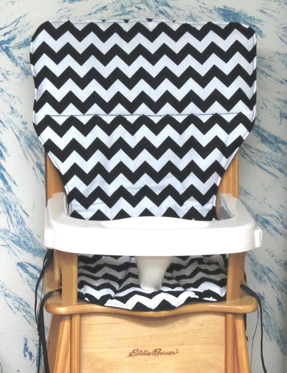 Eddie bauer high chair pad replacement cover zigzag black and – Eddie Bauer Beach Chairs