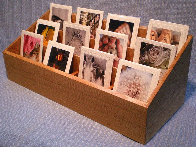 wooden rack card display