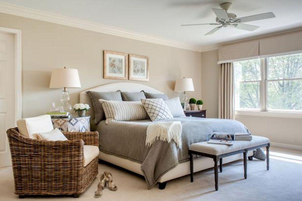 100 elegant farmhouse master bedroom decor ideas (6