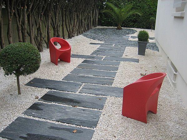 allée en cailloux autour maison - Bing Images Couloir jardin - gravier autour de la maison