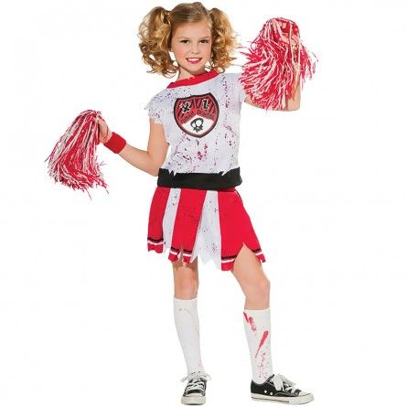 Girls Cheerleader Zombie Costume  sc 1 st  Pinterest & Girls Cheerleader Zombie Costume | Pinterest | Cheerleader costume ...