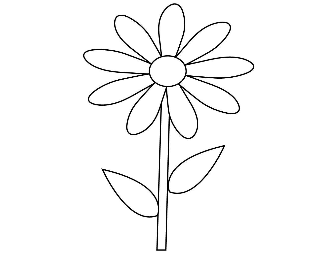 Printable Flowers Coloring Pages Best Simple Flower Coloring Pages To Print In 2020 Printable Flower Coloring Pages Flower Printable Flower Coloring Pages