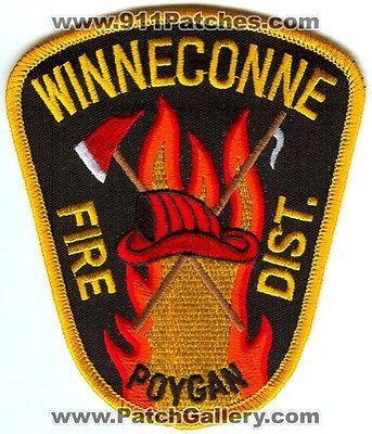 Winneconne Poygan Fire District Department Dept Rescue EMS Patch Wisconsin WI