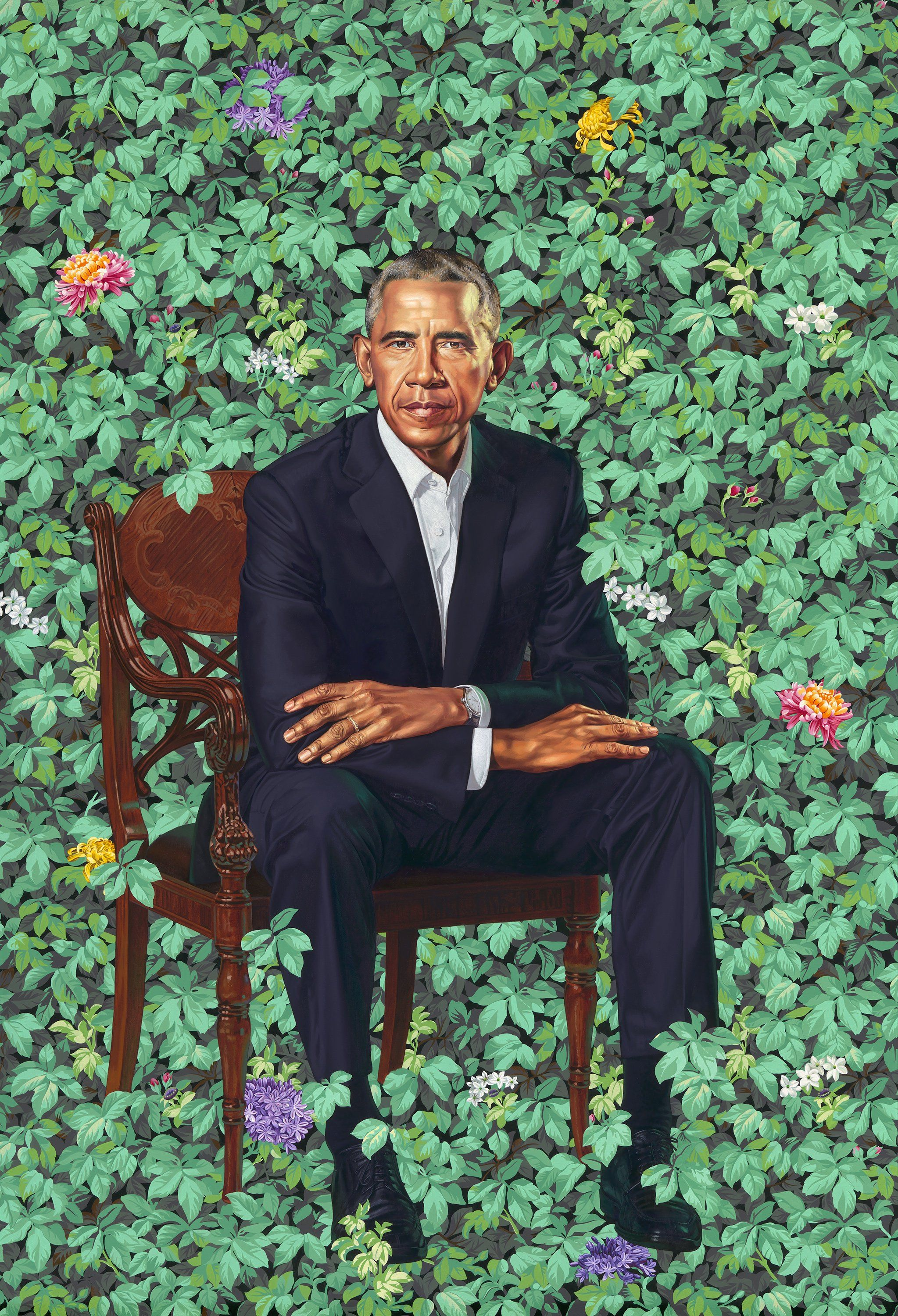President Barack Obama by Kehinde Wiley | The first African American ...