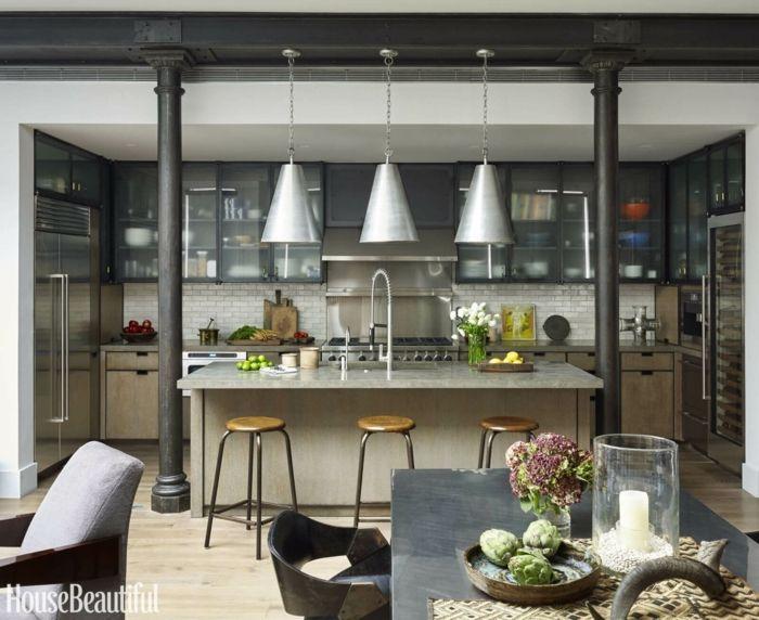 ejemplos de cocinas comedor modernas y funcionales, grande barra con ...