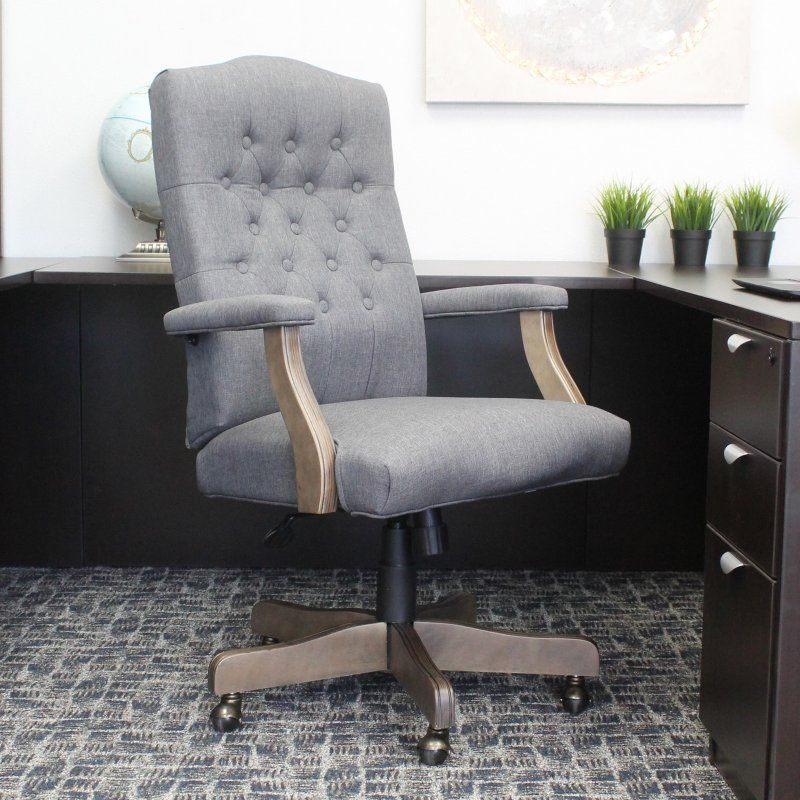 Boss High Back Slate Gray Commercial Grade Executive Office Chair B905dw Sg