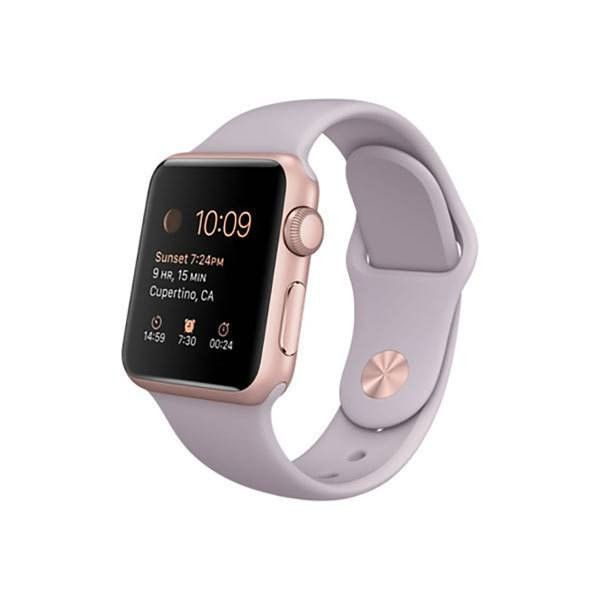 Refurbished Apple Watch (Series 1) Sport 38mm Rose Gold Aluminum Case with Lavender Sport Band - Fair Condition #sportswatches